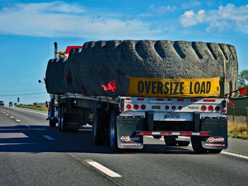 Standard Trailer Width - Oversize Load Sign