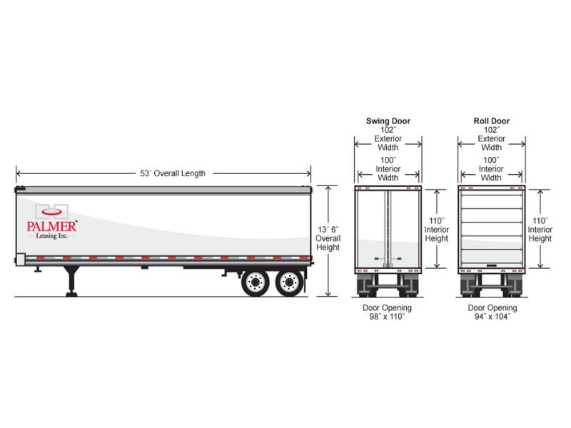 Standard Trailer Width Infographic